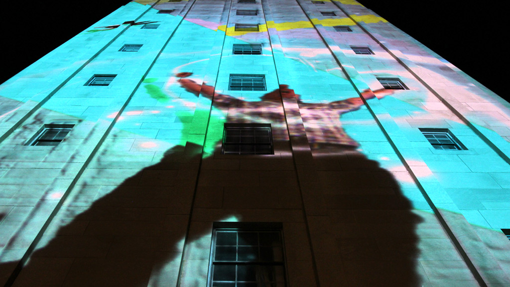 Interactive Projection Mapping Superhero - Ann Arbor Summer Festival - Wildbytes