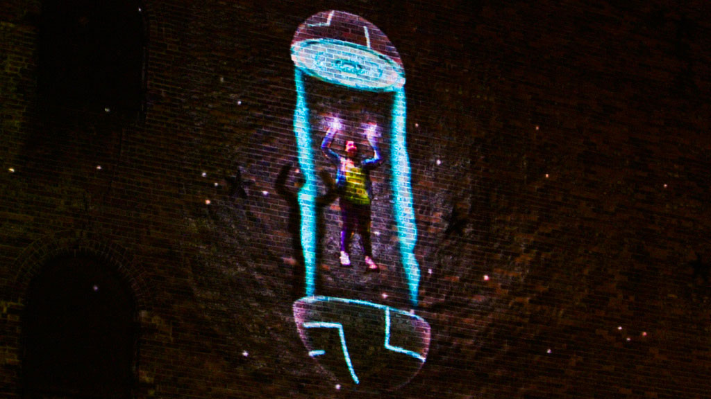 Interactive Projection Mapping Superhero NYC - Wildbytes